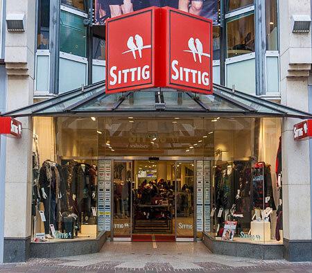 Schaufenster Modehaus Sittig in Paderborn